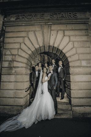 Sydney Royle Stairs Wedding - Bride and Groom