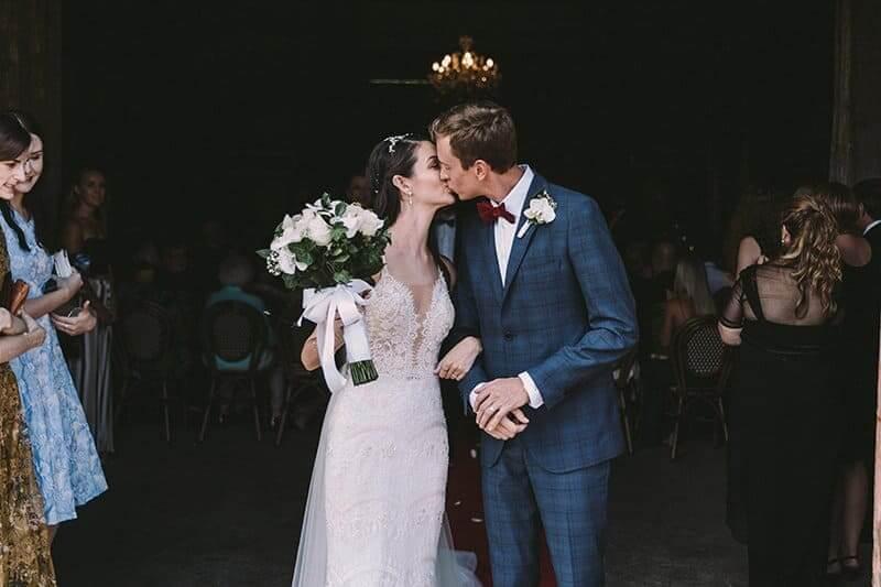 Bride And Groom Wedding Ceremony - Winery Australia