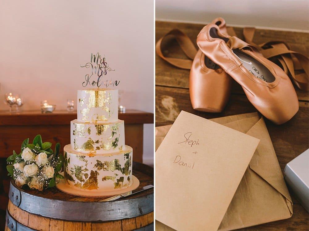 Gold Foil Wedding Cake