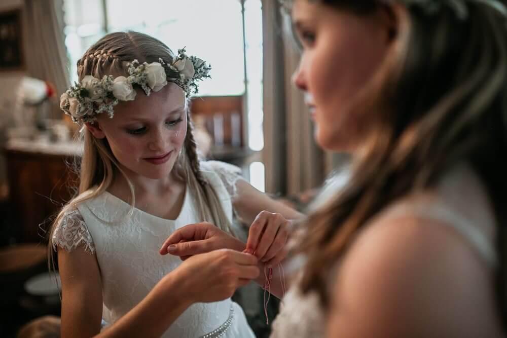 Boho Wedding Flower Girls