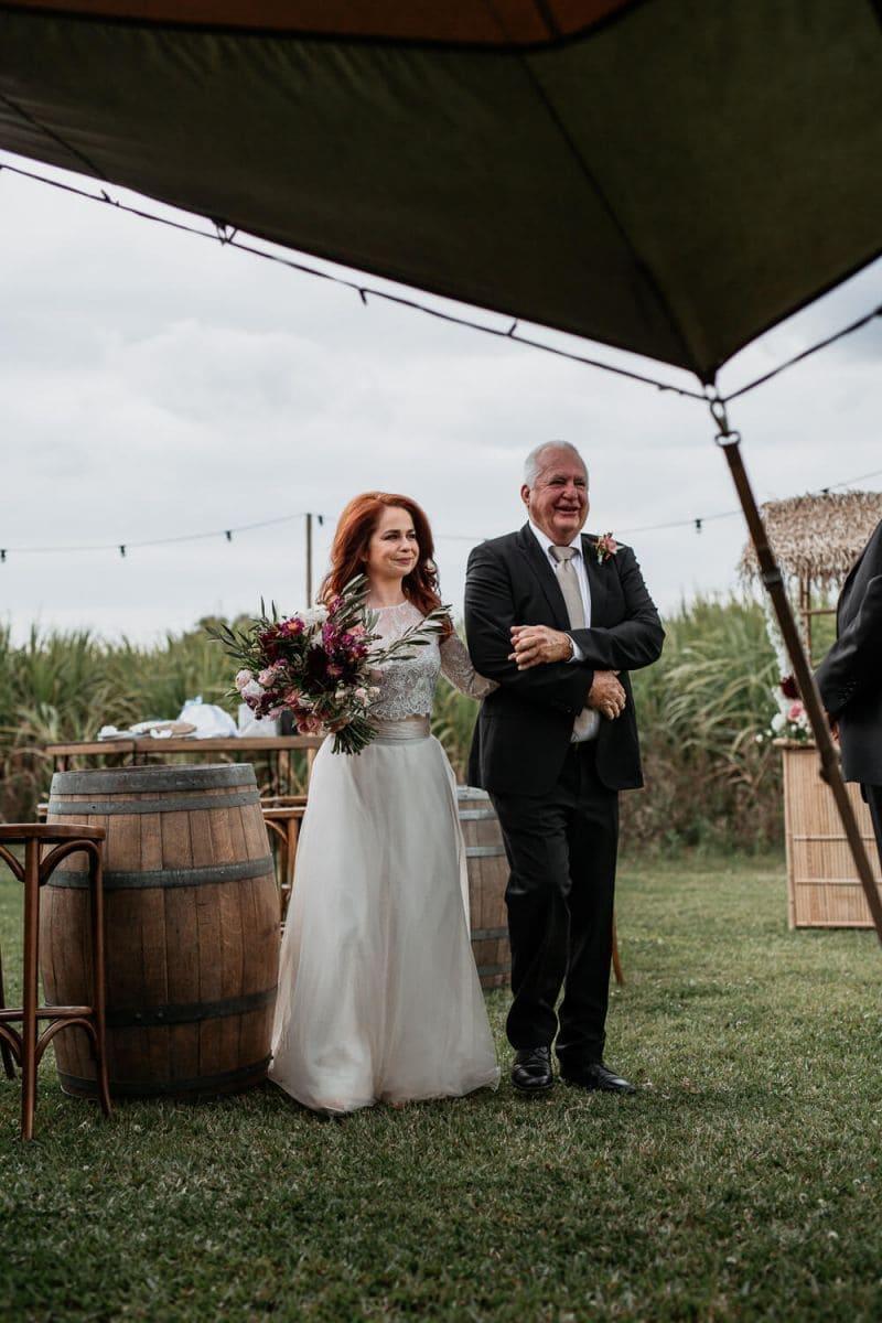 Julia Walking Down Wedding Aisle