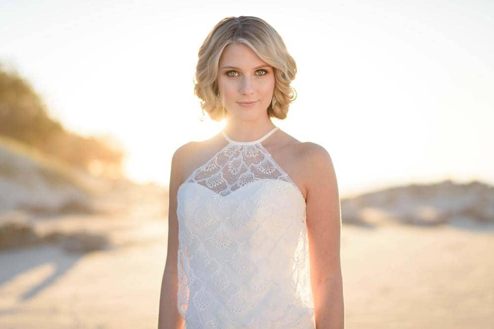 Halter Neck Wedding Dress by Paddington Weddings