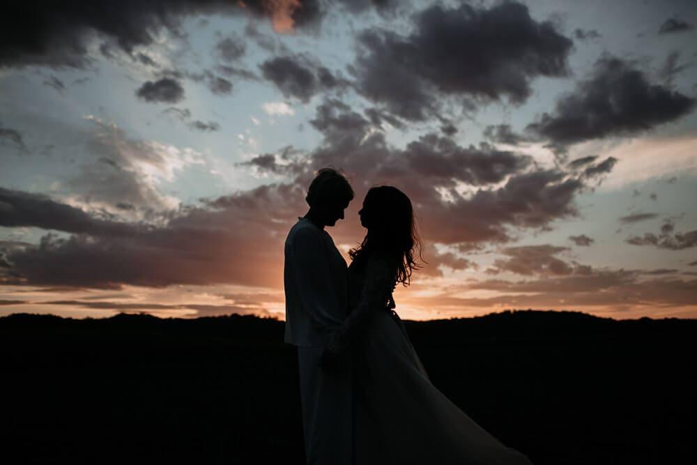 Romantic Sunset - Wedding DAy